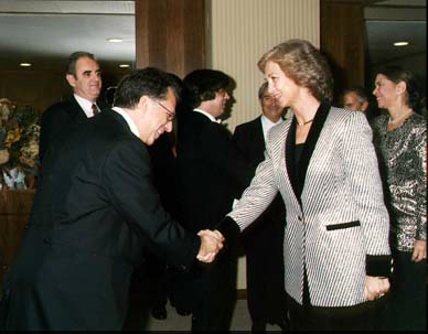 Her Majesty, Queen Sofia of Spain,  following a performance in Madrid.