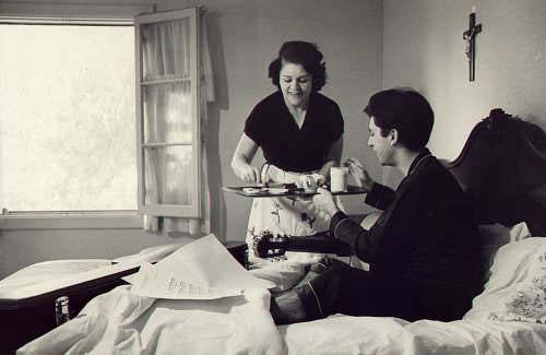 The making of a great guitarist - a typical morning w/ breakfast  in bed served by his mother, Angelita