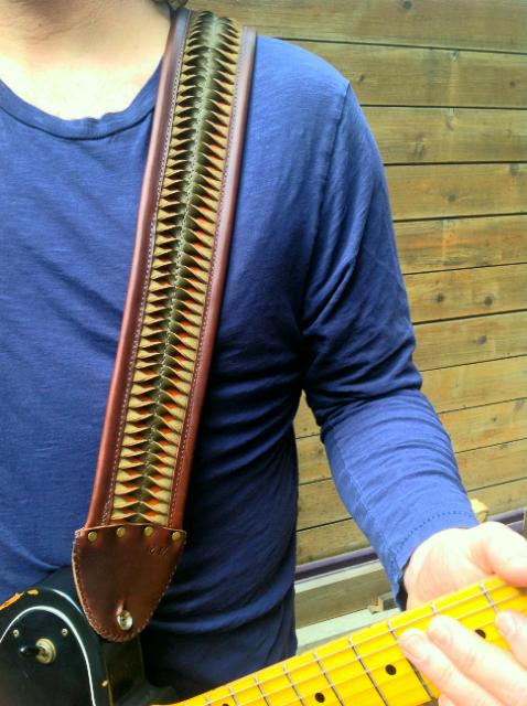 custom guitar strap for M.M.