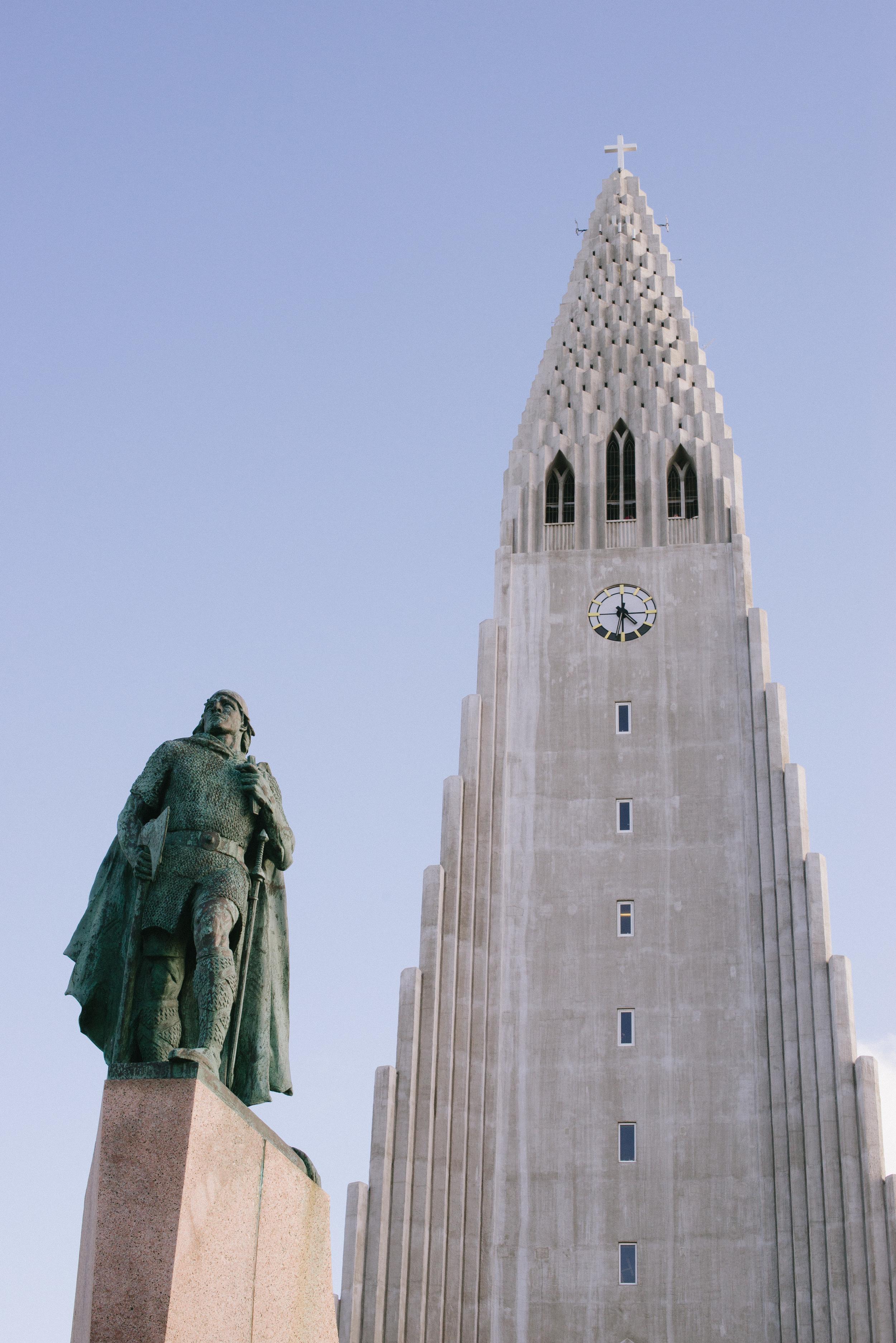 Evening walk about downtown Reykjavik and Hallgrimskirkja.