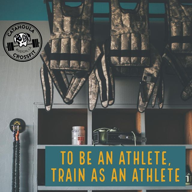 Nothing more to it, folks. You don't stop being an athlete when you're 25. Or 65. You stop when you stop training. #catahoulacrossfit #fitmam #workout #fitness #ruston #crossfit #rustonlouisiana #latech #grambling