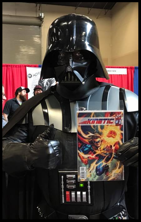 Darth Vader holding Issue #1 of Kinetic