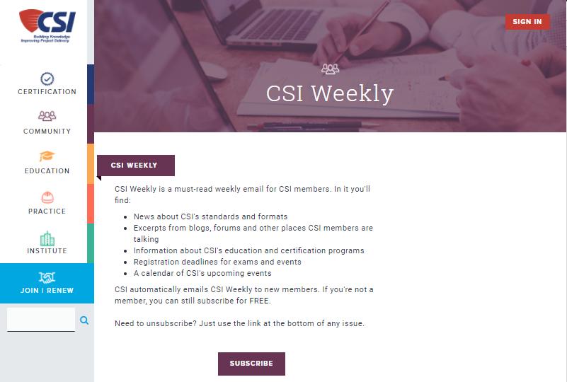 CSI   Newsletter