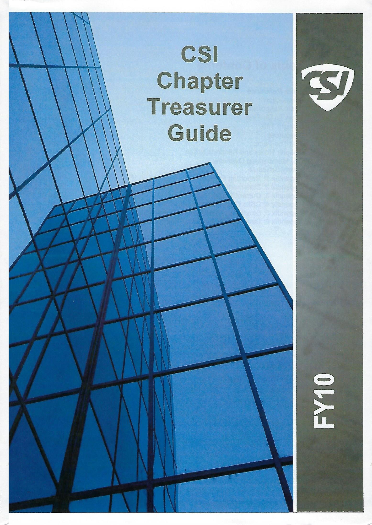 CSI Chapter Treasurer Guide - (PDF FORMAT)