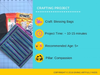 Blessing Bag Directions with Social Issue Video Introduction and Discussion Questions.
