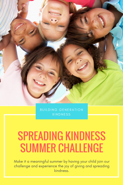 Spreading Kindness Summer Challenge