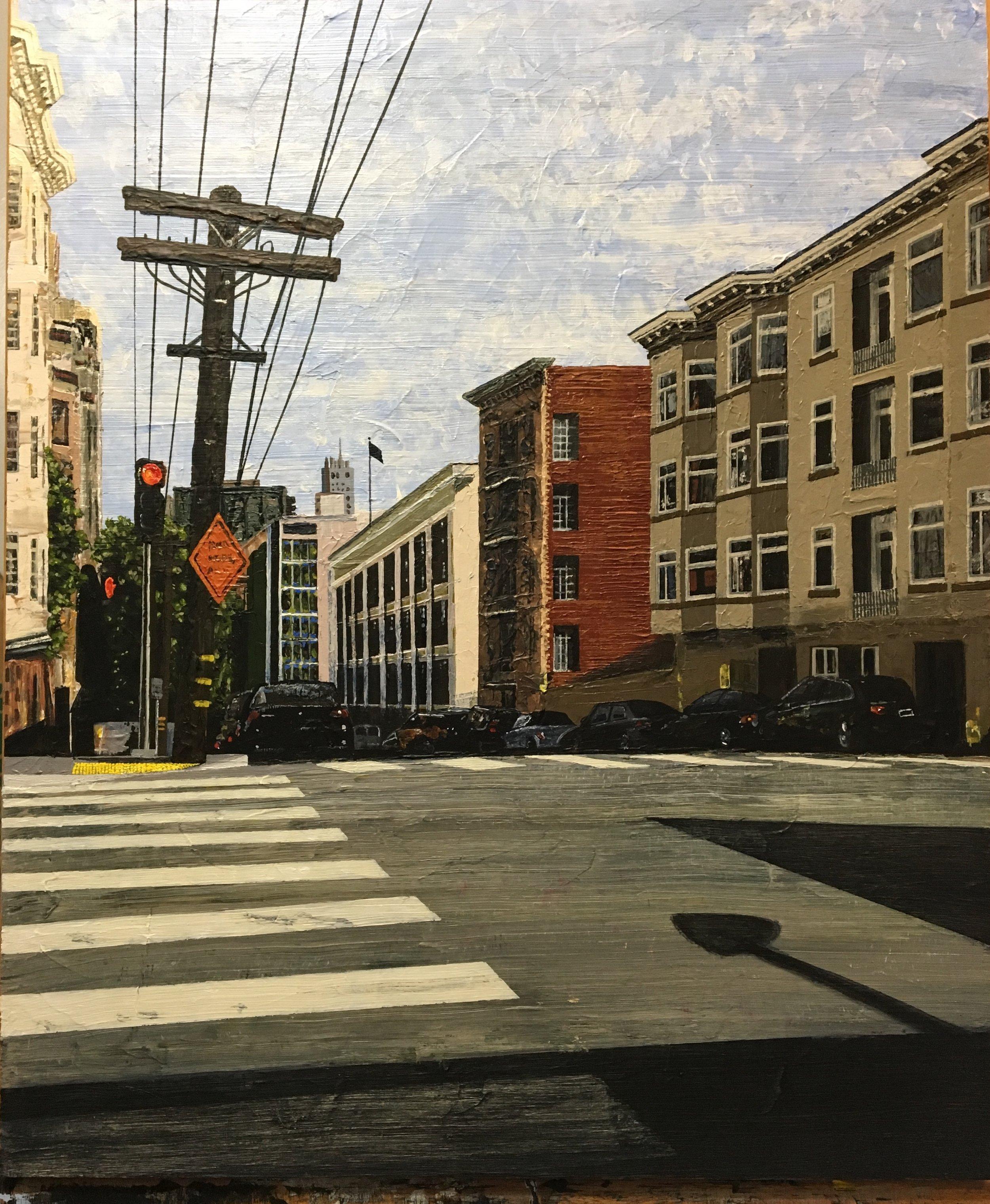 Stop Road Work.  Please. - 24 X 20 Acrylic on Panel