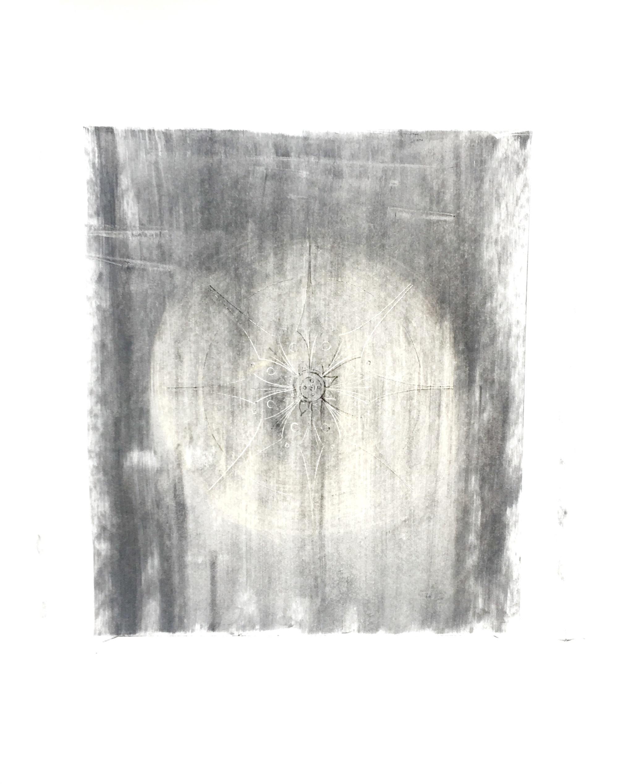 Impressed Mandala - 24 X 18 - Impressed Line, Ink, Pencil and Charcoal on Bristol