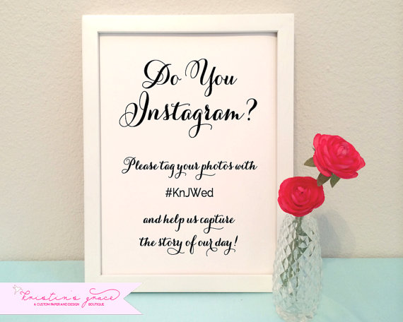 grace and serendipity - featured (as kristins grace) in cosmopolitan bride magazine - instagram sign