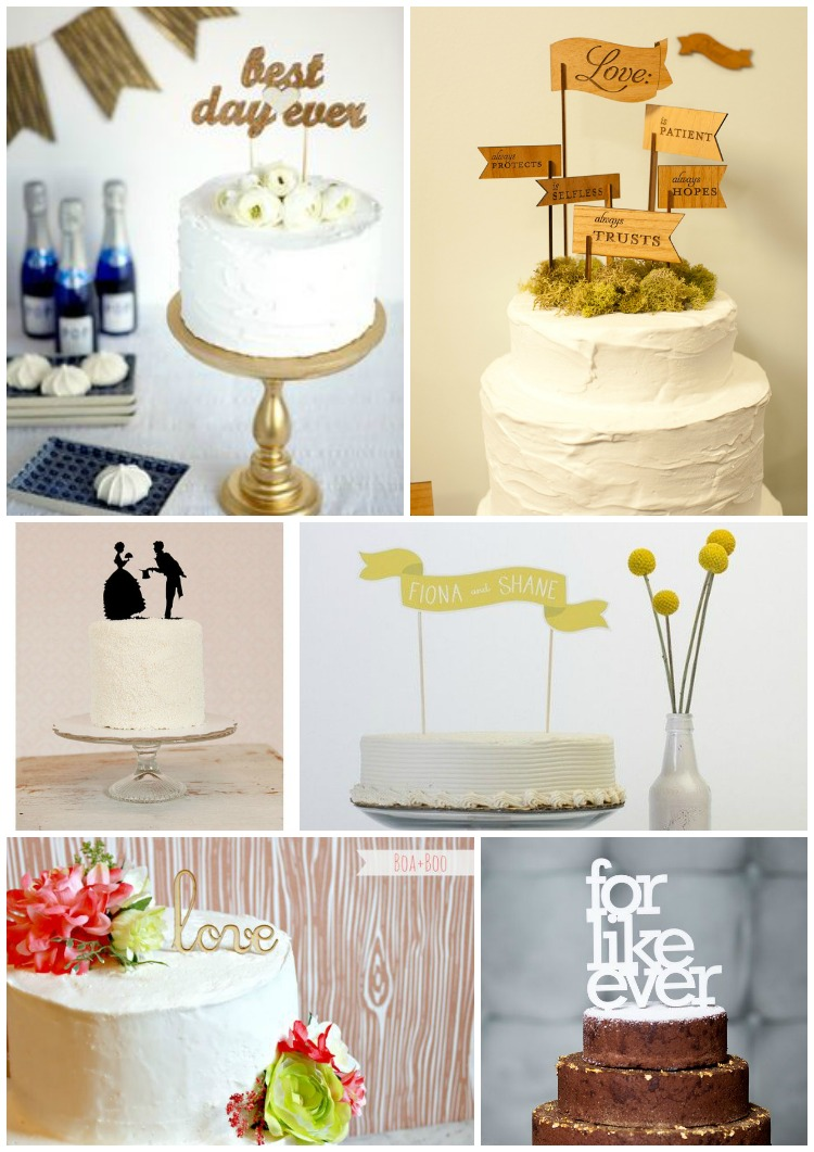 grace and serendipity - cake toppers