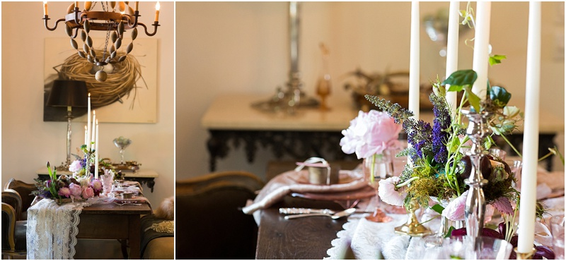 grace and serendipity, fiore, ashley victoria photography  - the lacy oyster - pensacola wedding styled shoot - intimate dinner setting