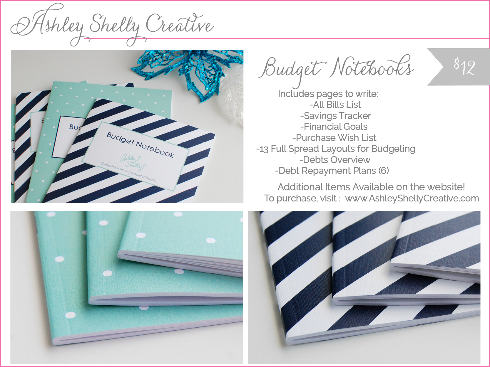 ashley shelly creative - budget notebooks - shop small