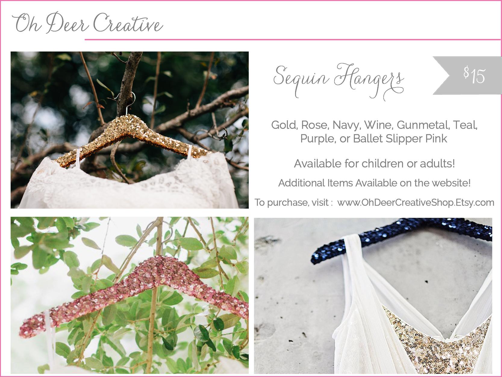 oh deer creative - sequin hangers - shop small