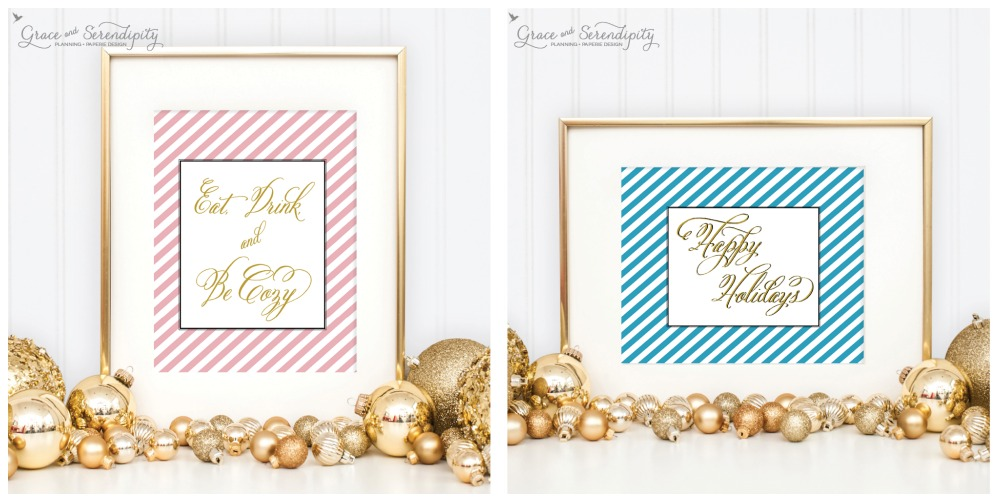 grace and serendipity - holiday collection eat drink be cozy + ho ho ho