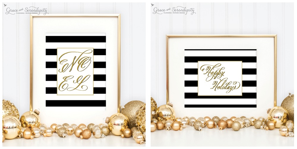 grace and serendipity - holiday collection noel + happy holidays