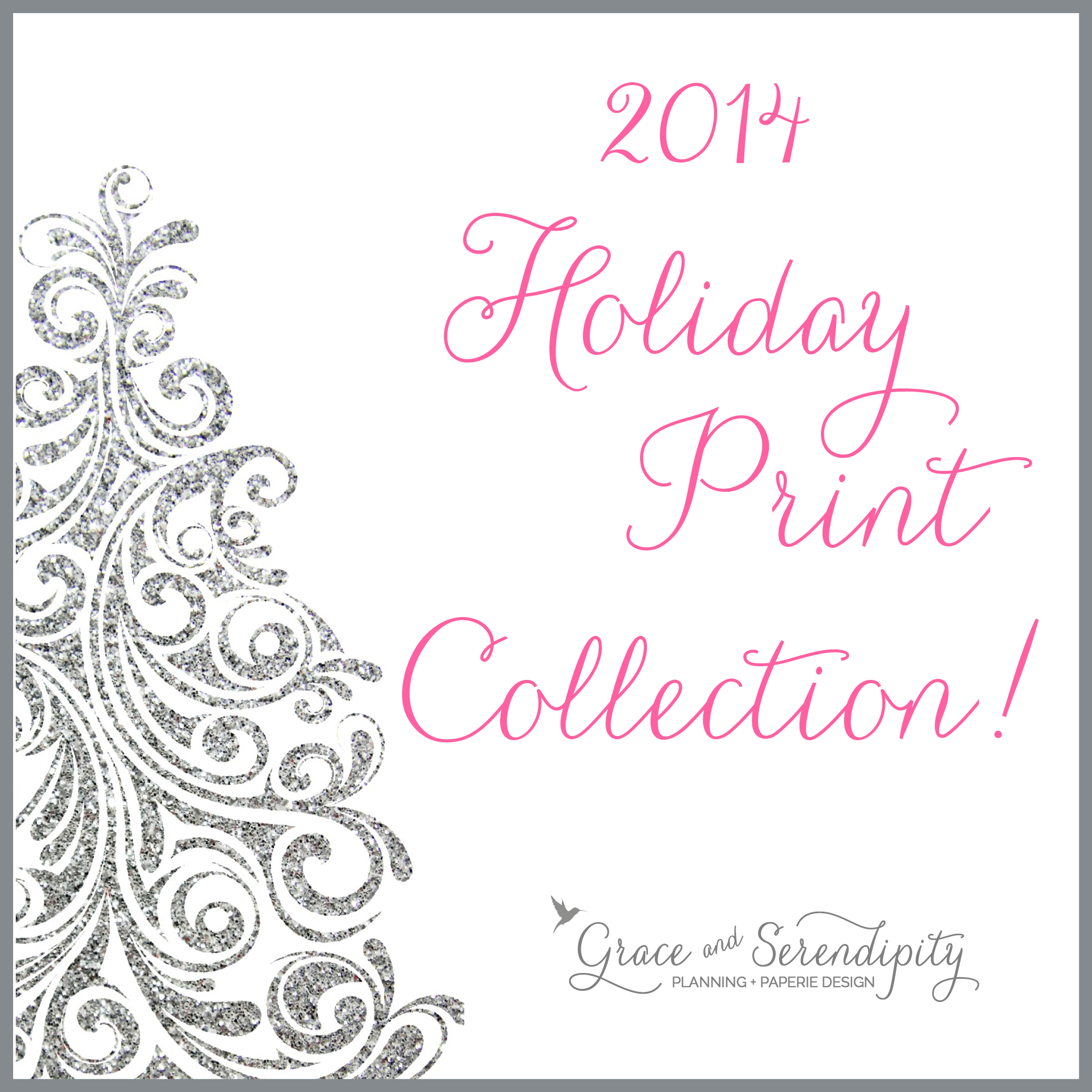 grace and serendipity - 2014 holiday print collection