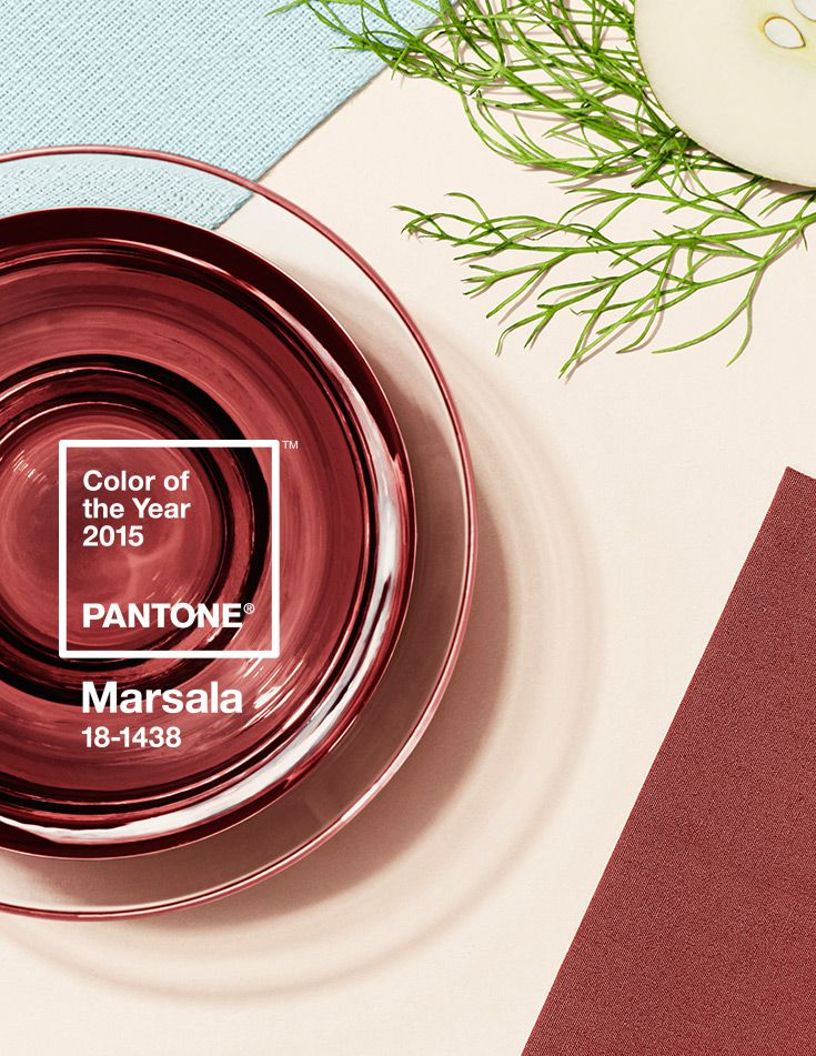 pantone color of the year - marsala