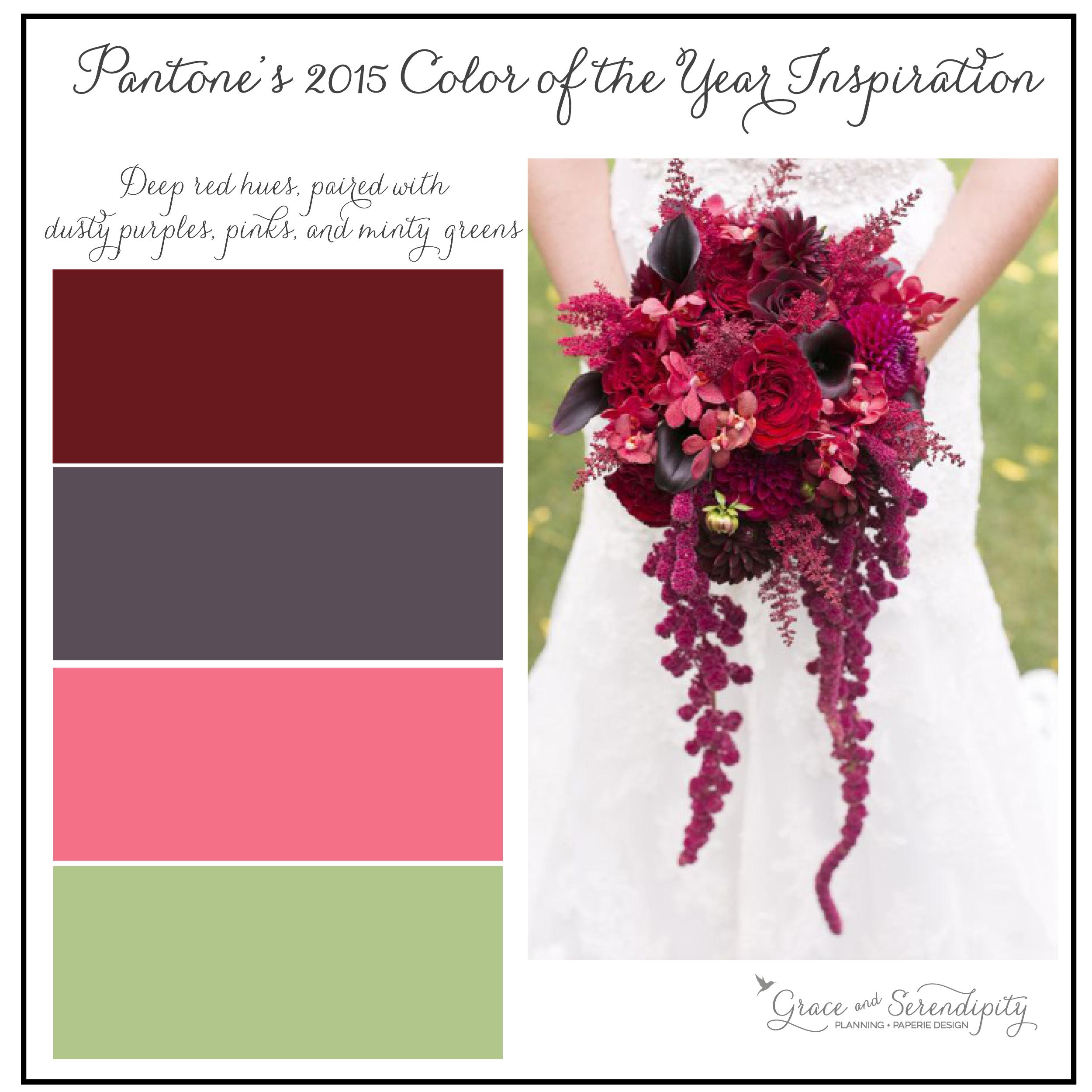 grace and serendipity - marsala inspiration board - burgundy, purple, pink, green