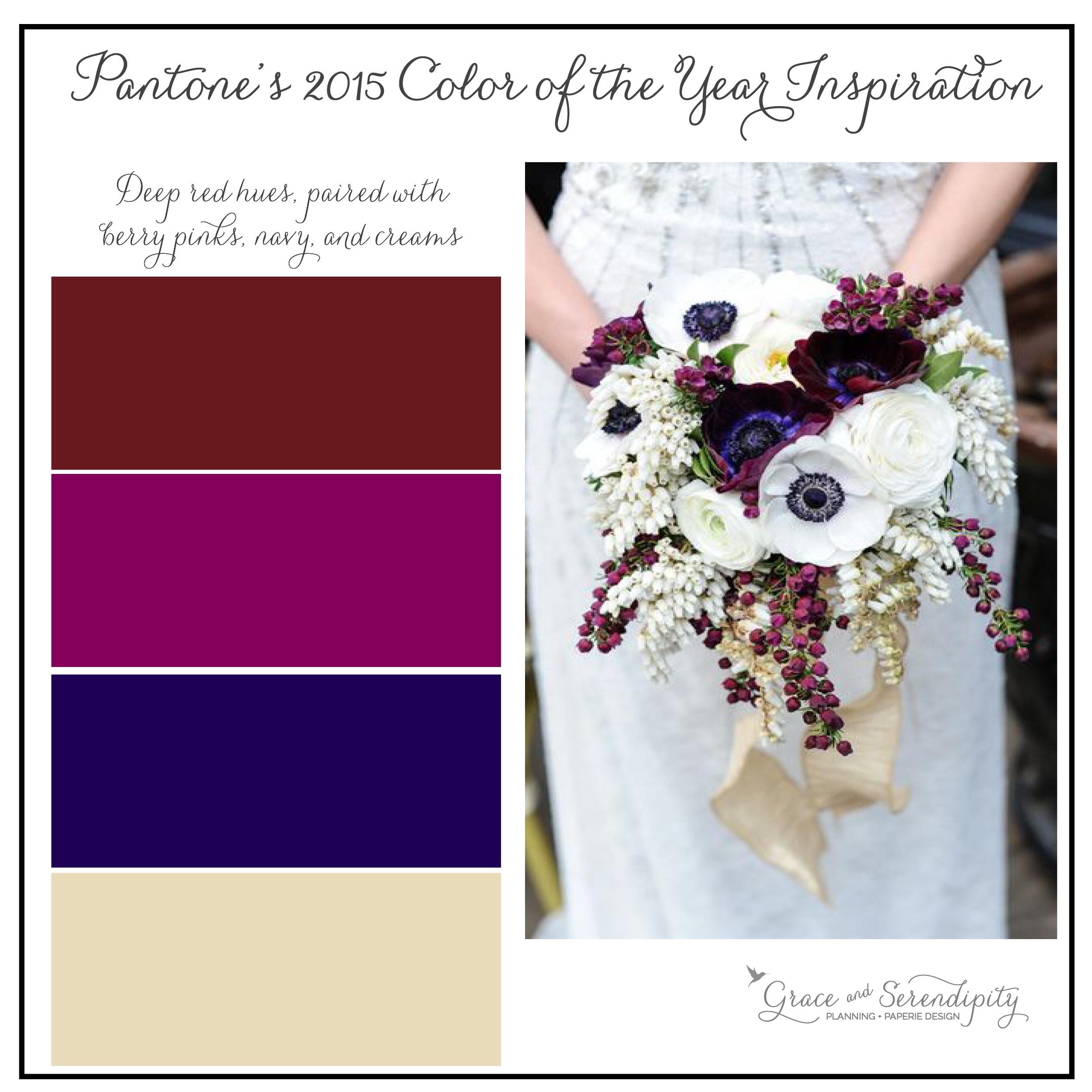 marsala inspiration board - burgundy, purple, navy, cream - grace and serendipity