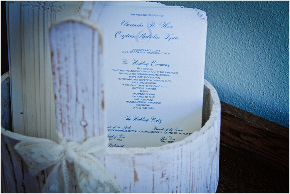 pensacola wedding planner - ceremony program