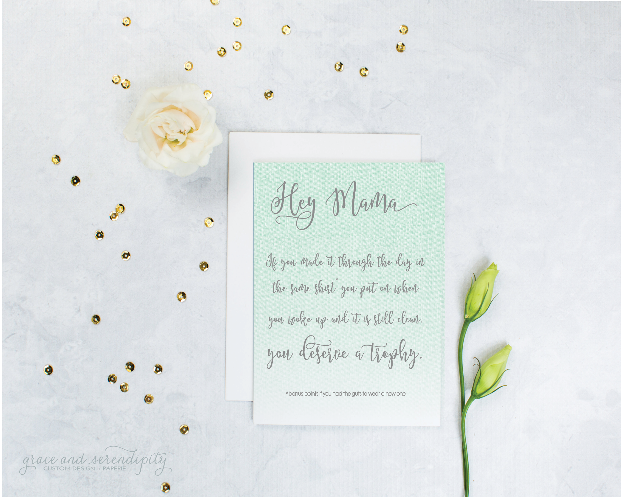 mom encouragement card by grace and serendipity