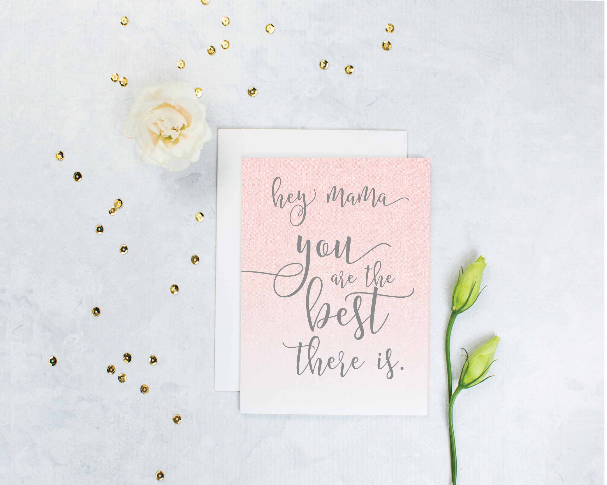 mom encouragement card - mothers day card - you are the best there is, by grace and serendipity