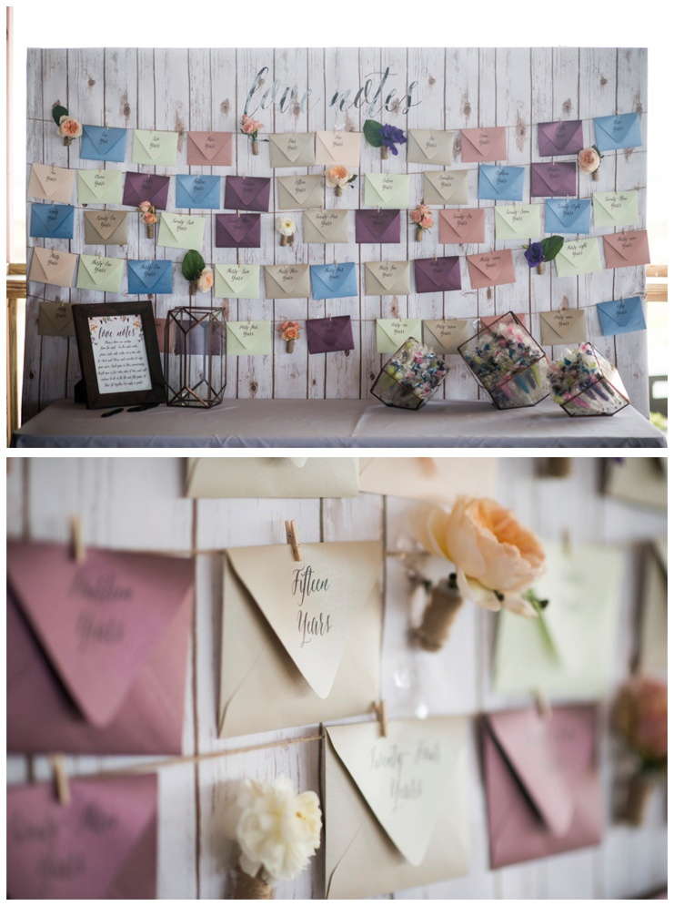 Alternative Guestbook Idea - Love Notes Wall - by Grace and Serendipity