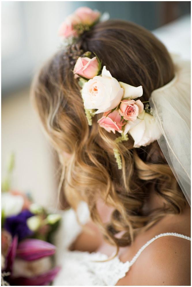 Flower Crown for Bohemian Beach Wedding in Pensacola Beach by Fiore of Pensacola