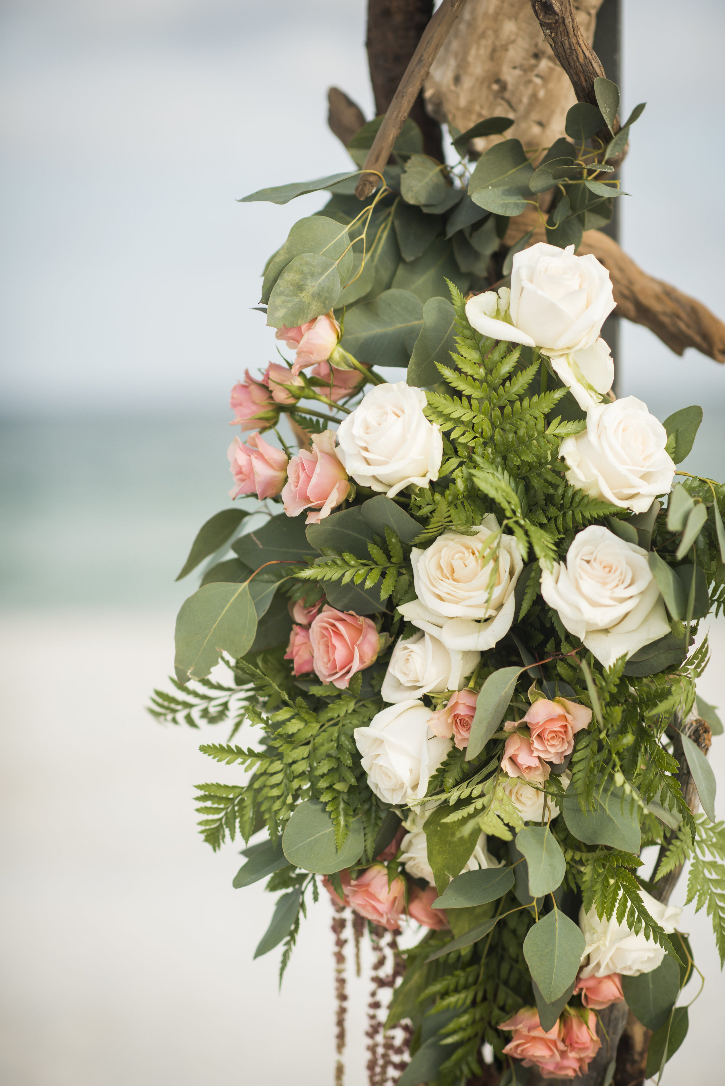 Driftwood Arch by Fiore of Pensacola - Pensacola Beach Wedding by Grace and Serendipity + Aislinn Kate Photography