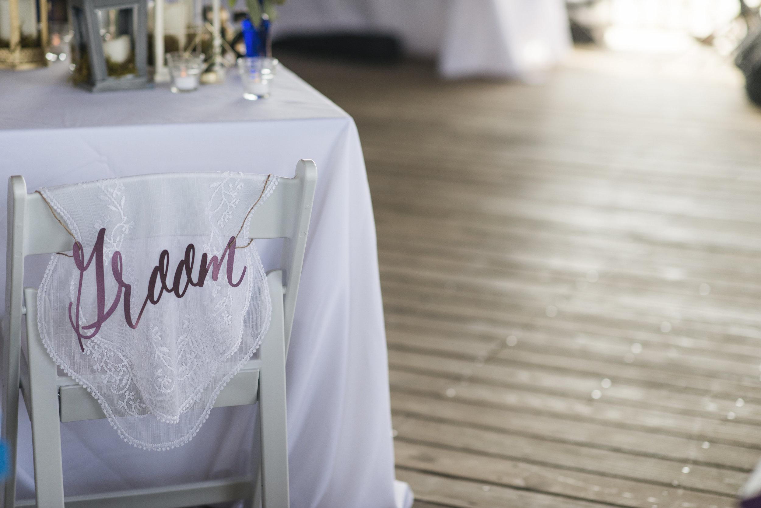 Bohemian Beach Wedding - Wedding Chair Details - Grace and Serendipity + Aislinn Kate Photography