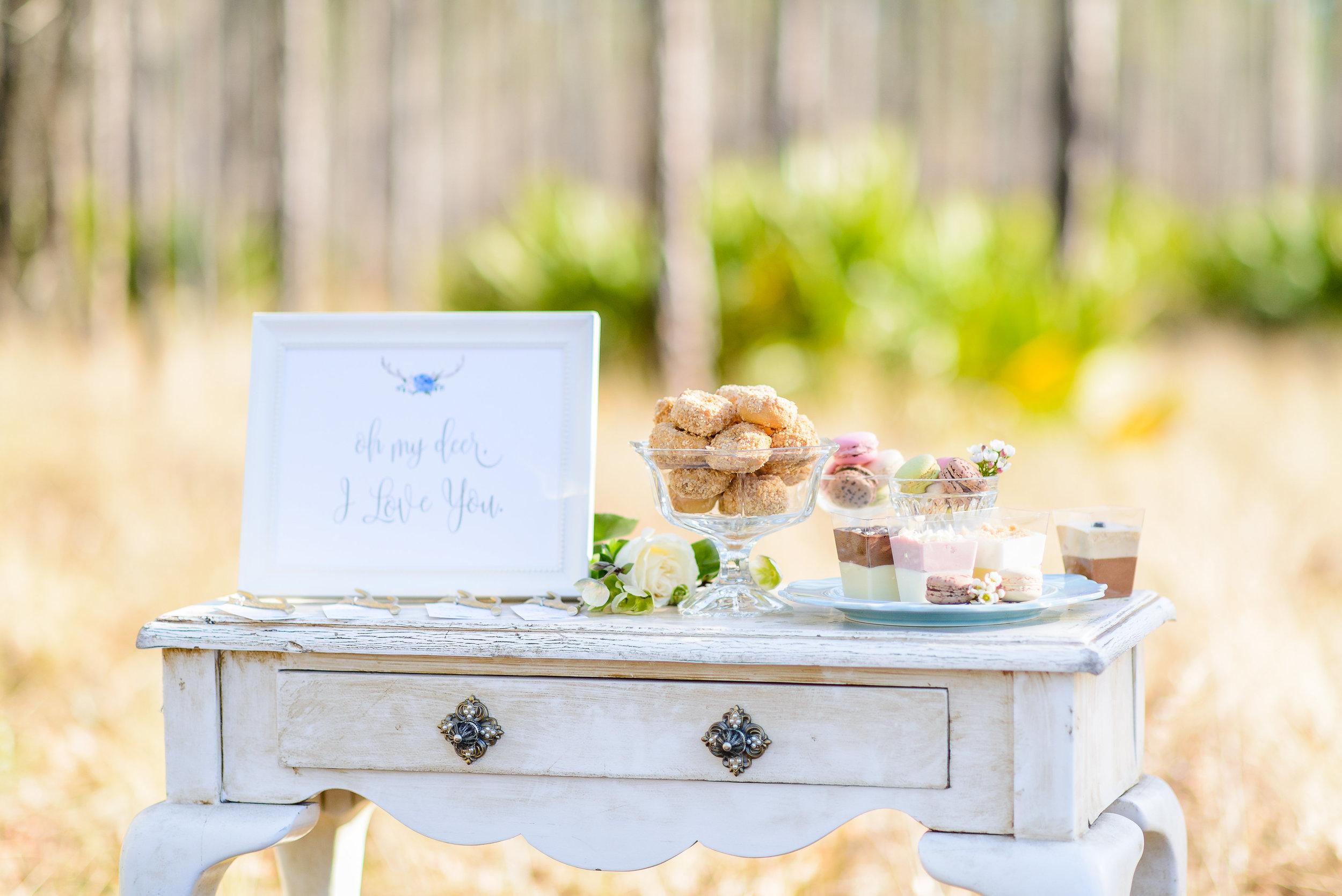 Wedding Dessert Table - Boho Antler - Grace and Serendipity