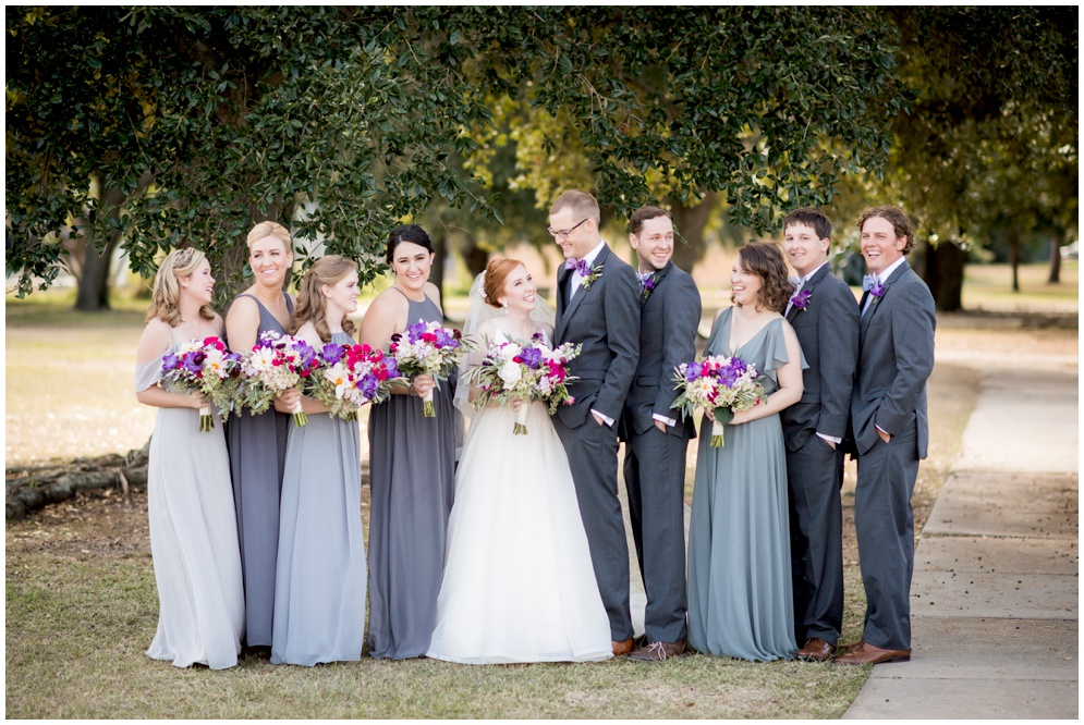 Gray and Fuchsia Wedding Bridal Party - photography by Aislinn Kate