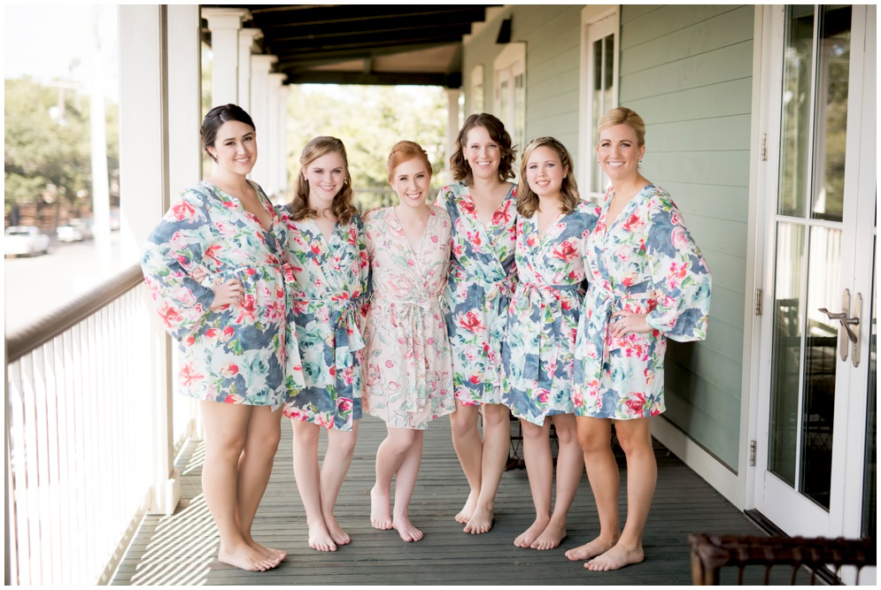 Floral Bridesmaids Robes - Lee House Pensacola - Aislinn Kate Photography