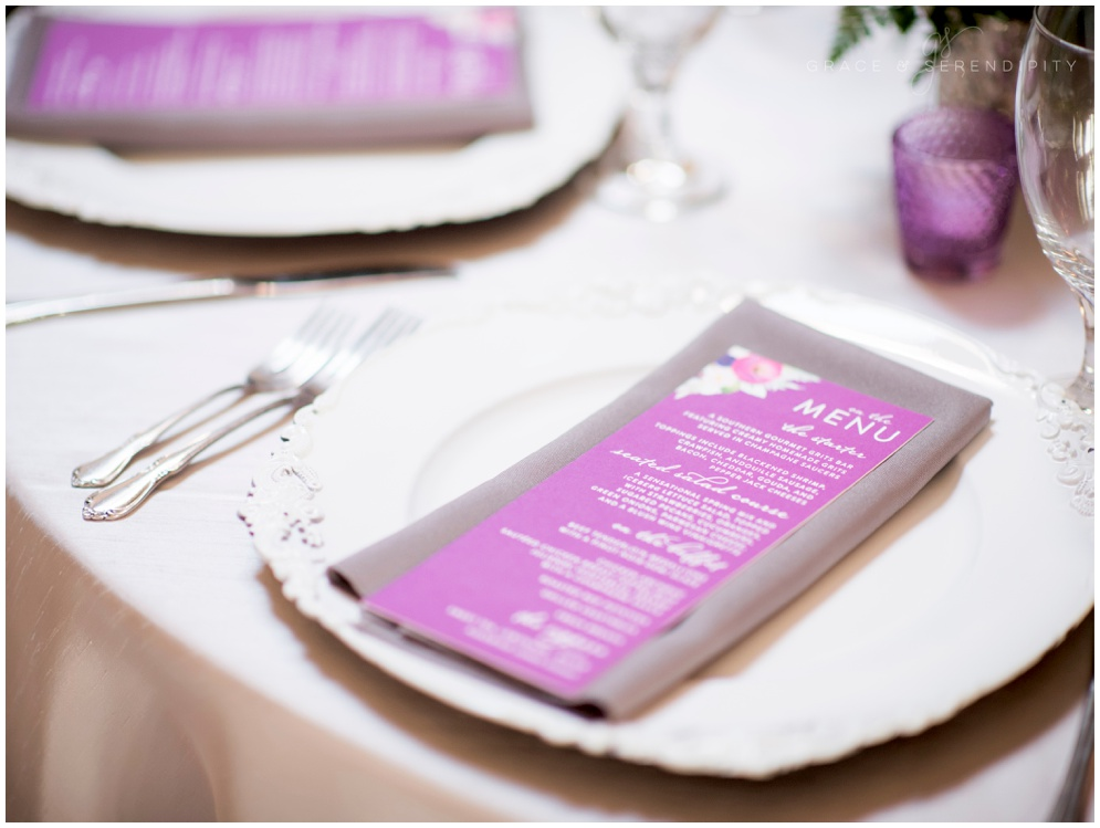 Wedding Menu - designed by Grace and Serendipity, Aislinn Kate Photography