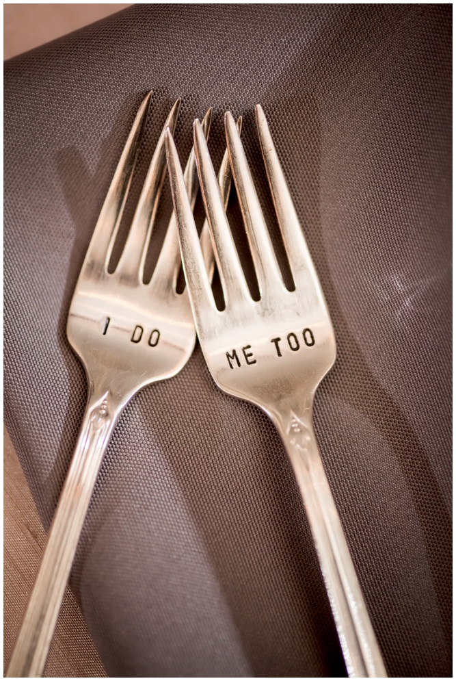 I Do Me Too Wedding Day Forks - Aislinn Kate Photography