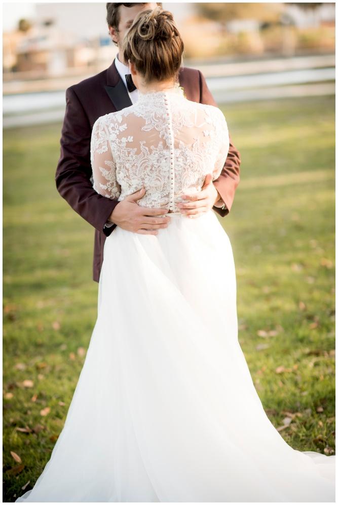 Vintage Lace Back Button Back Wedding Dress