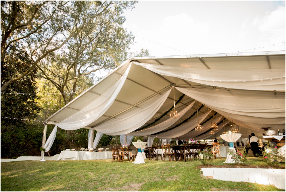 Pensacola Gorgeous Tent Wedding by Aislinn Kate, Florals by Supposey, Wedding Invitation Design by Grace and Serendipity