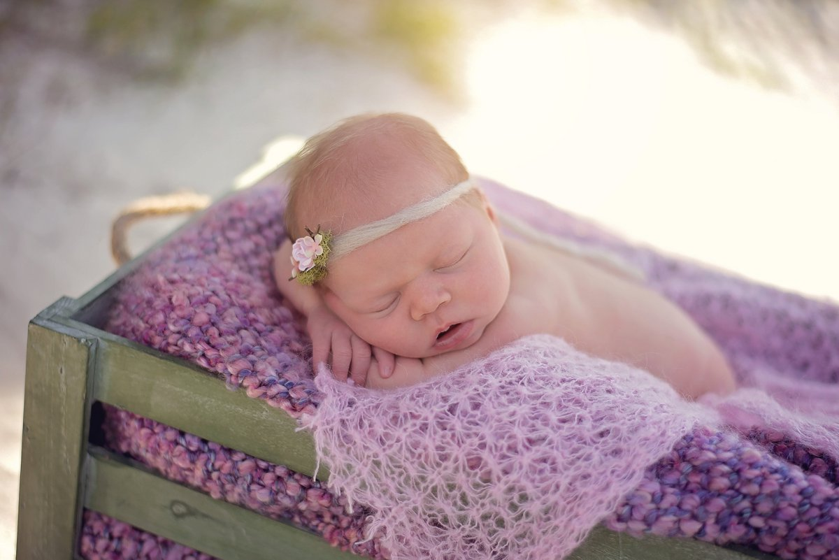 Beach Newborn Photos in Connecticut