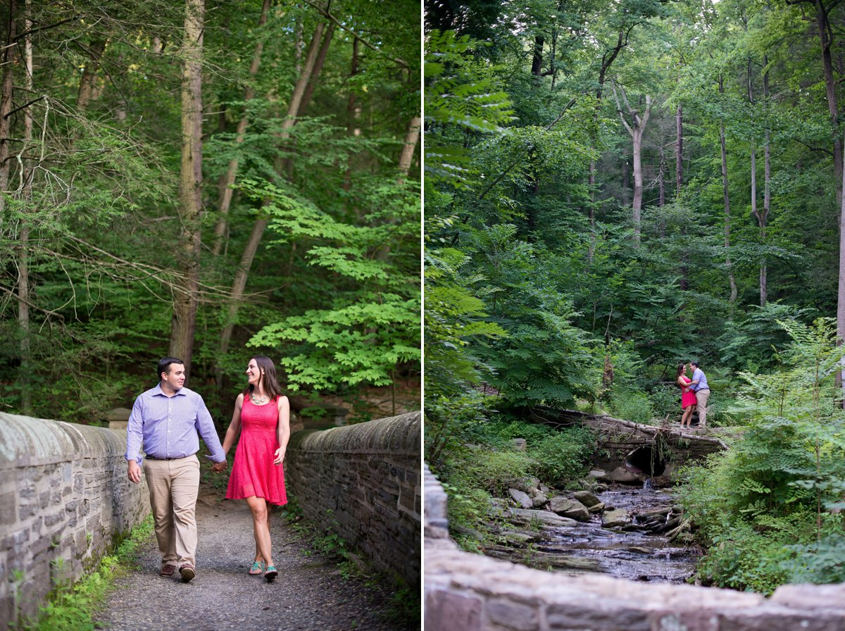 Wissahickon valley engagement photos