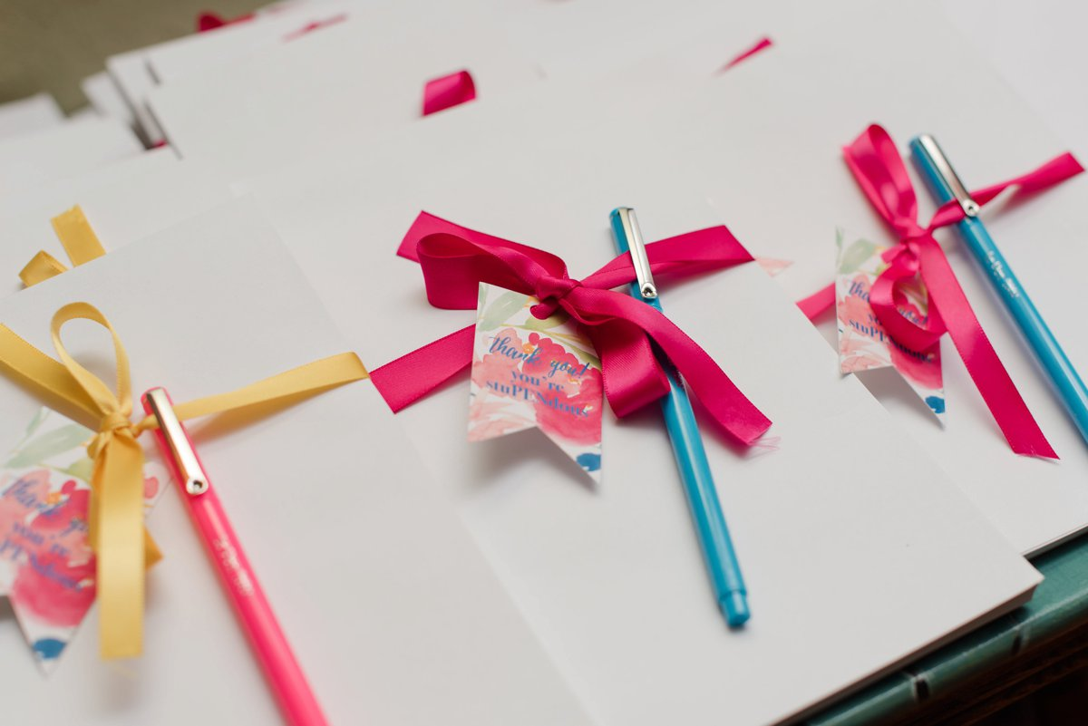 bridal shower pen and paper gift