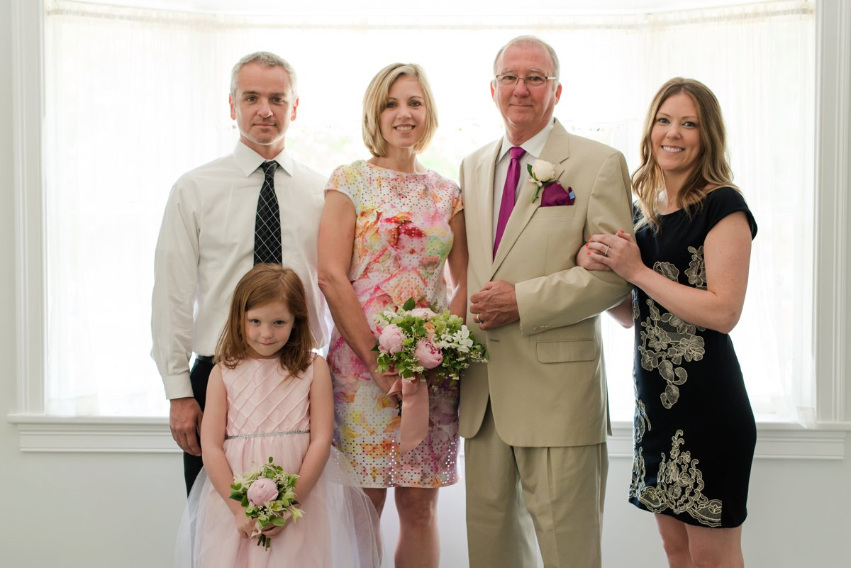 Small family wedding in Rhode Island