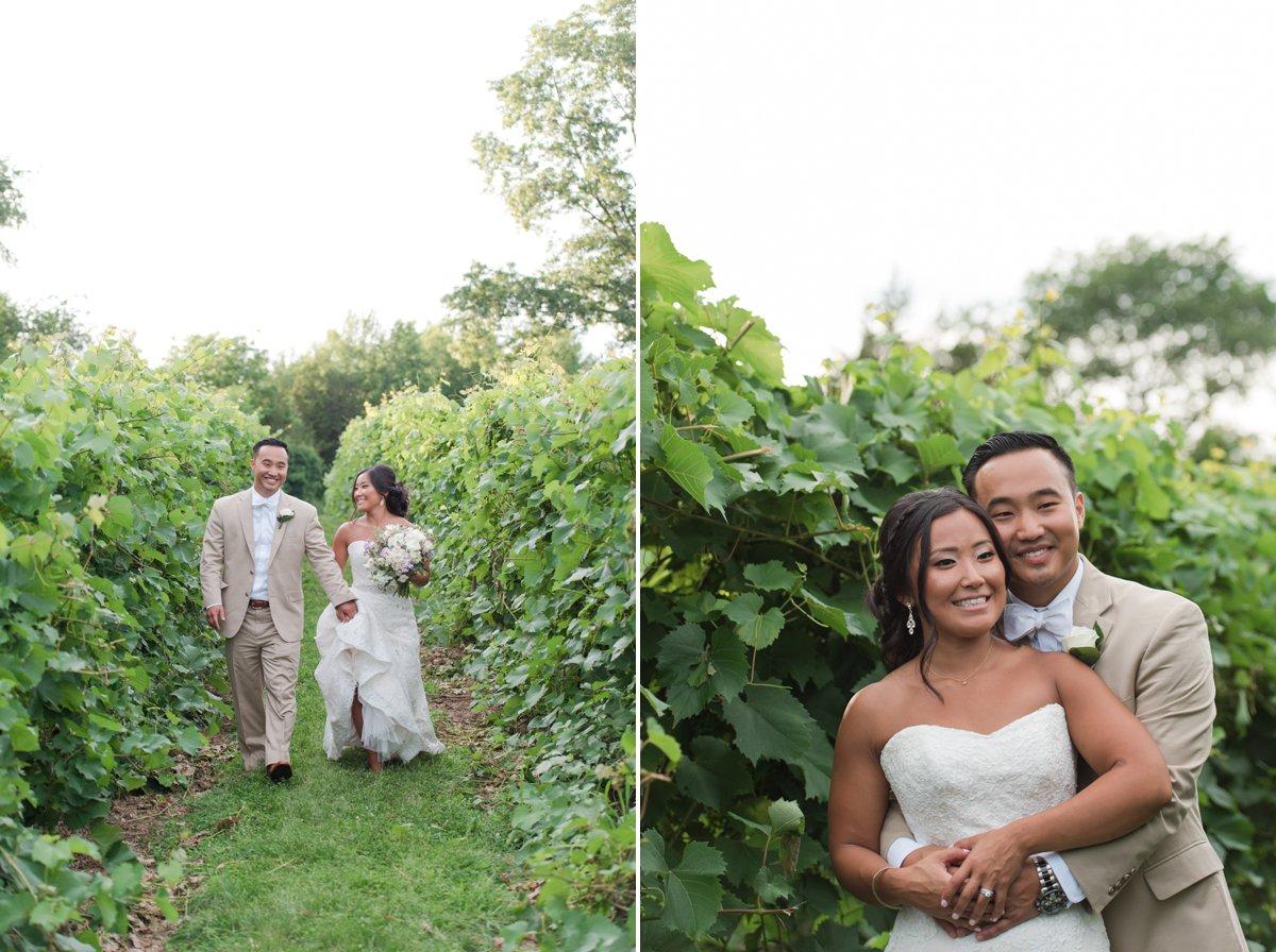 Vineyard wedding in Connecticut