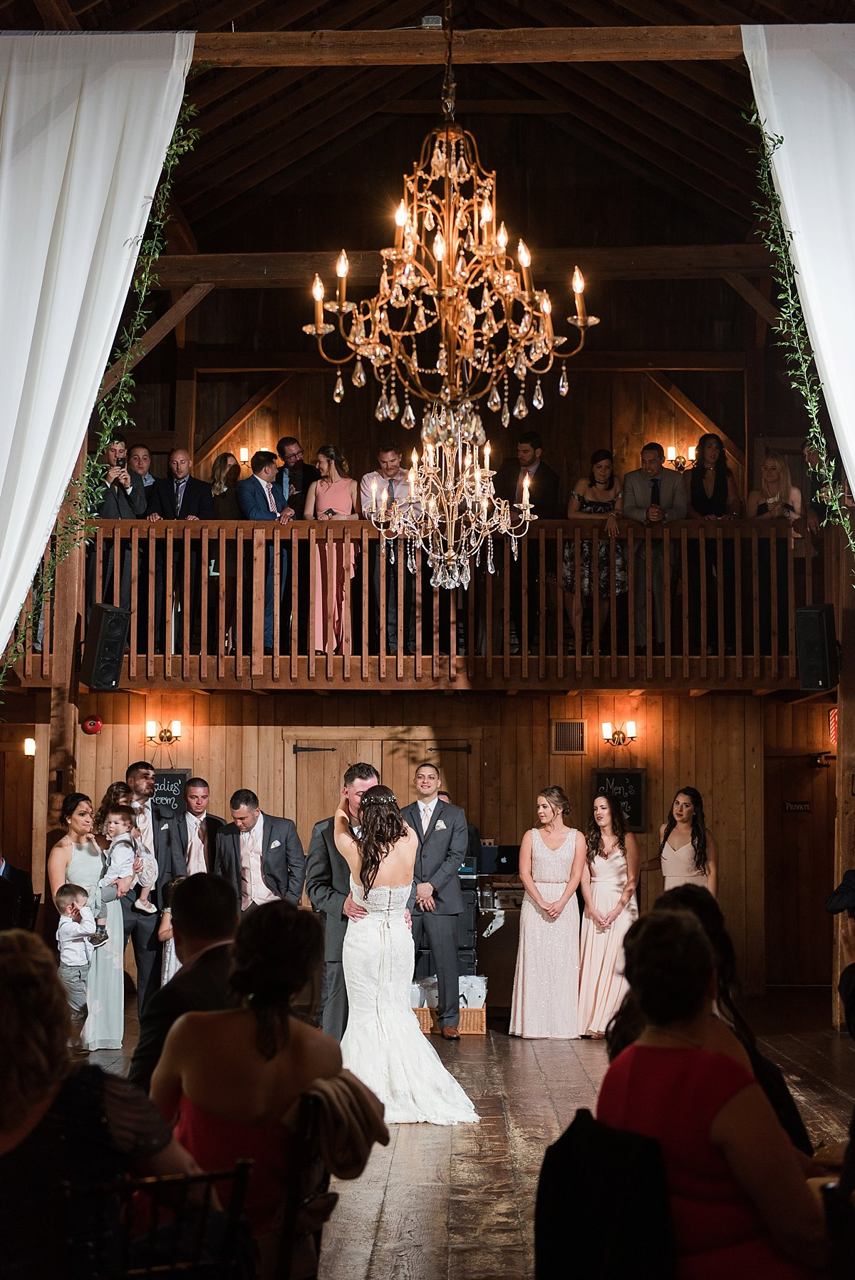 first dance at the barns at wesleyan hills