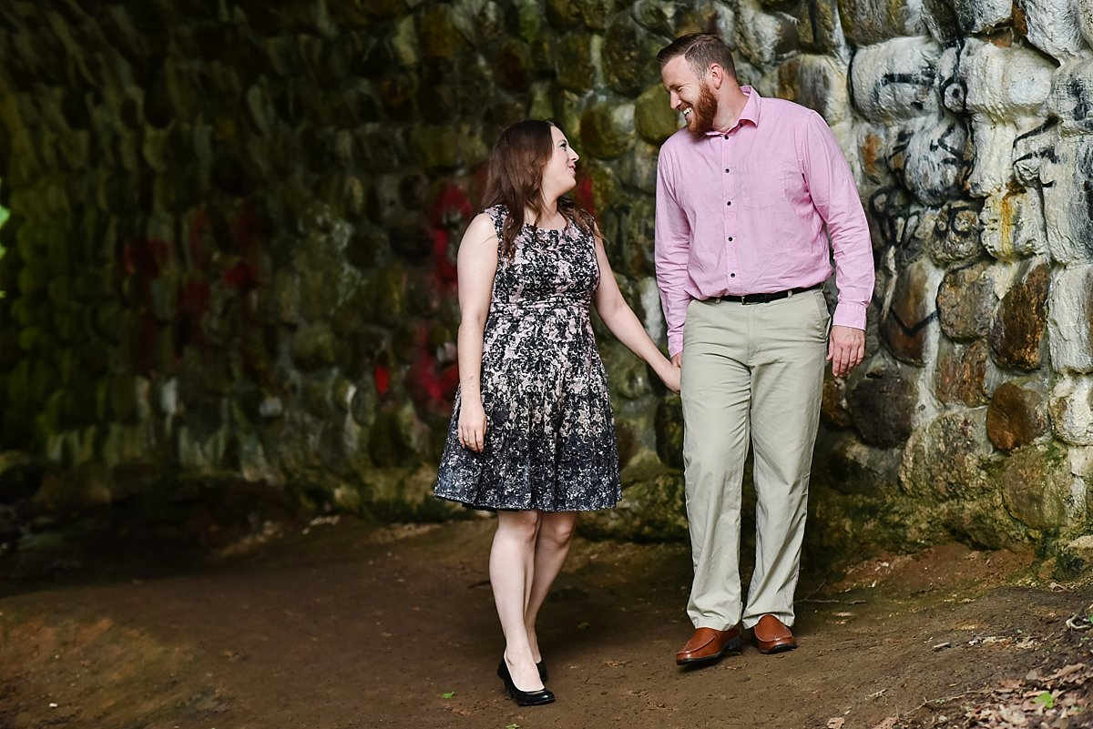 Devils Hopyard tunnel Engagement photos