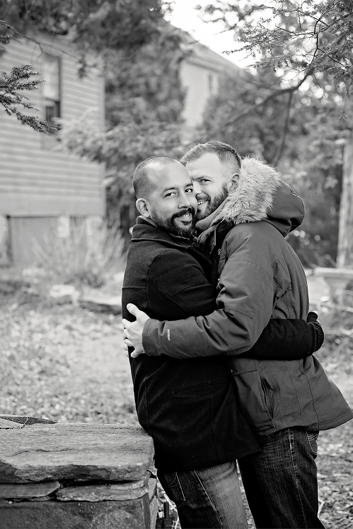 Same sex couple engagement session