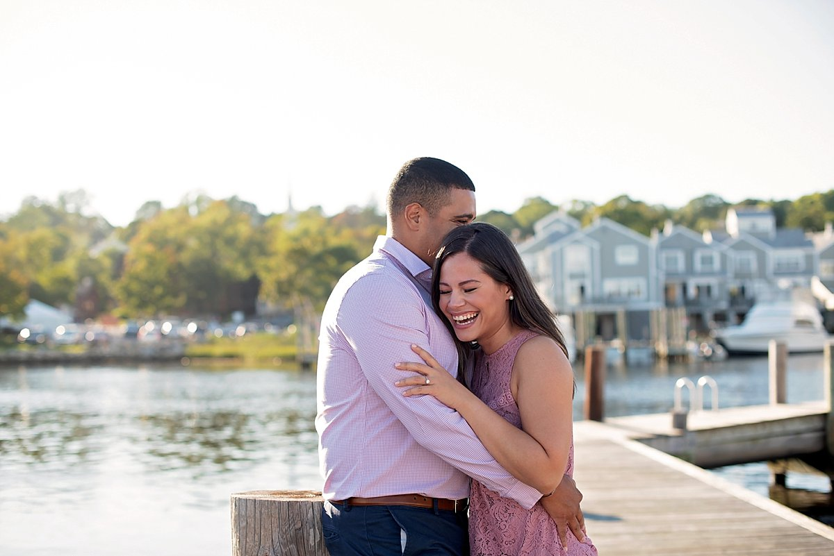 Engagement photos in Mystic Connecticut