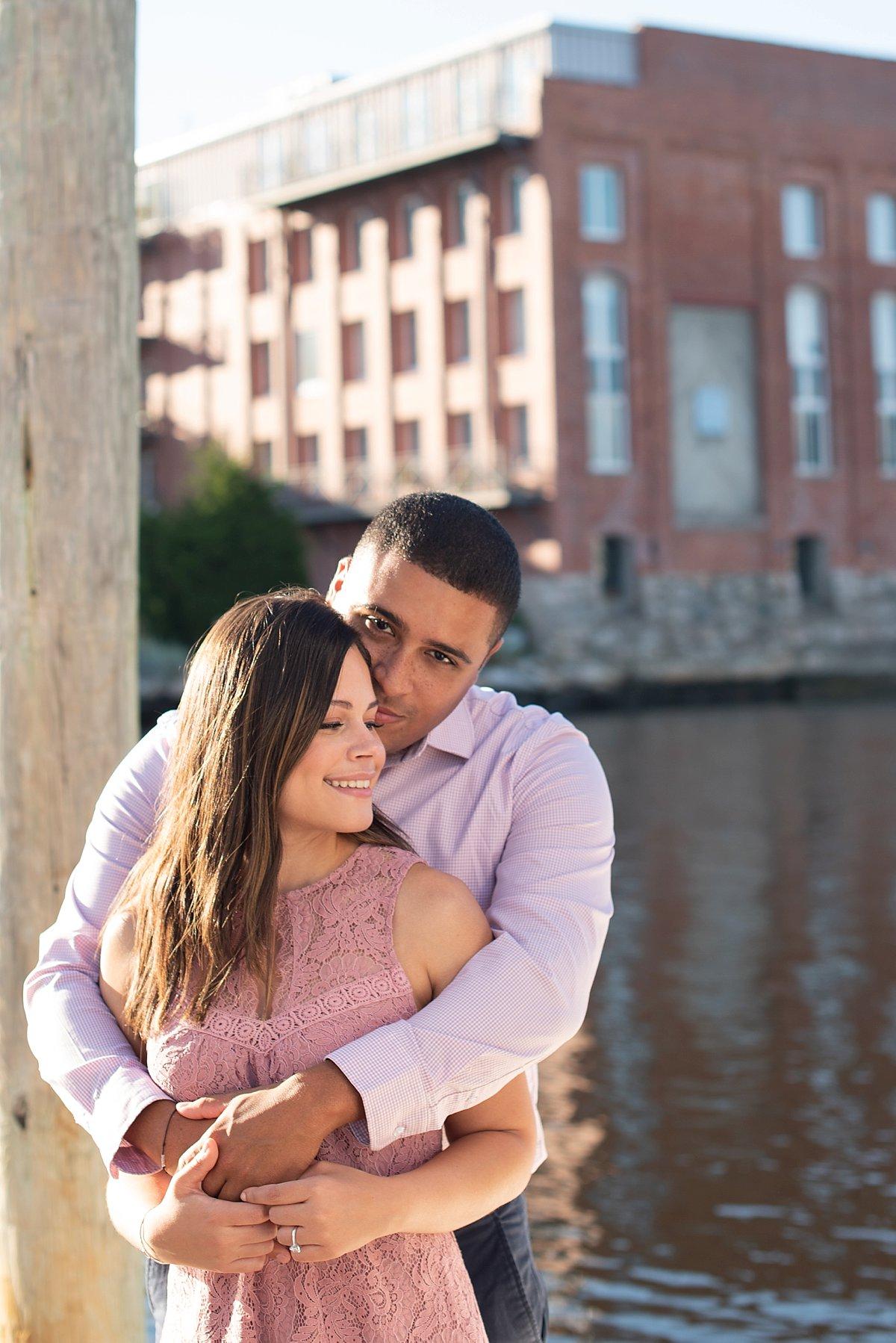 Couples photos on a dock