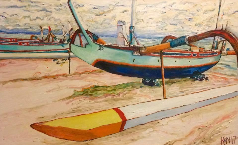 Bali 1     Oil on Canvas    121.9 cm x 76.2 cm    $600
