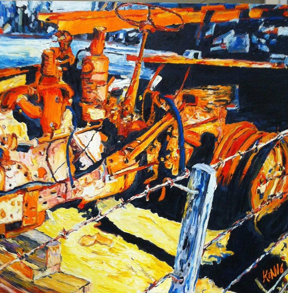 Disused 11 - Dead Horse Lane Mansfield     Oil on Canvas    91.4 cm x 91.4 cm    $650