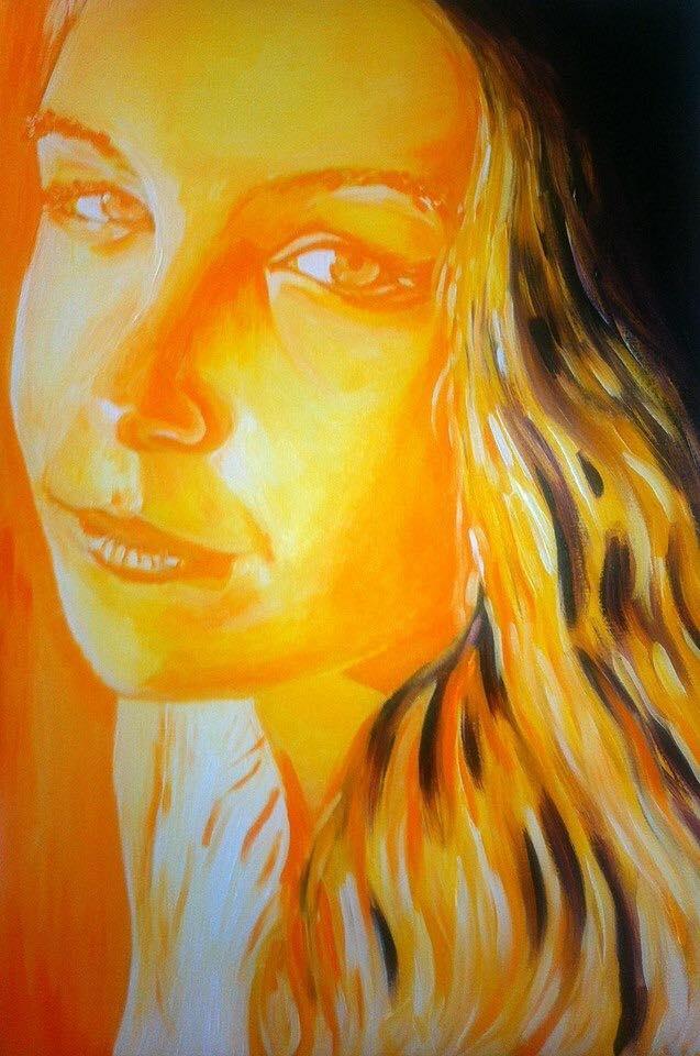 Romy     Acrylic on Canvas    60.9 cm x 91.4 cm    $550